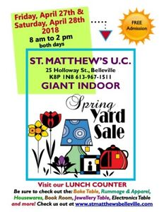 ST. MATTHEW'S GIANT INDOOR SPRING YARD SALE