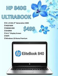 Winter Laptop Sale - HP 840G Ultrabook w/ Windows 10 Only $499