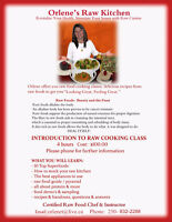 Raw Cooking Classes