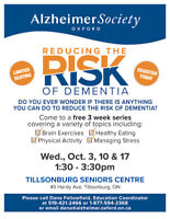 Reducing the Risk of Dementia