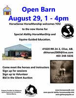 Open Barn For HorseSense HorseManShip