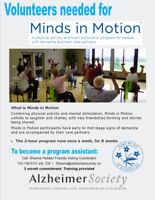 Alzheimer Society Seeking helpers for Minds  in Motion!