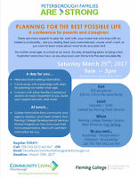 Planning for the Best Possible Life: A conference for parents