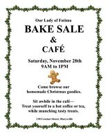 Christmas Bake Sale & Café