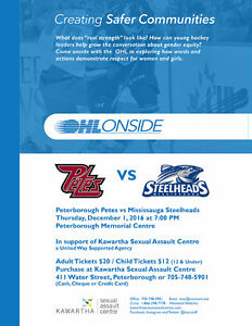 Petes Tickets in Support of the Kawartha Sexual Assault Centre Peterborough Peterborough Area image 1