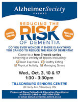 Reducing the Risk of Dementia