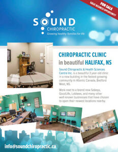 CHIROPRACTIC CLINIC FOR SALE IN BEAUTIFUL HALIFAX, NS