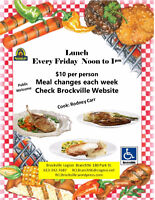 Lunch  Noon - 1pm Every Friday  $10 per person April
