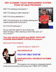 TOUCHSCREEN POS SOLUTION FOR YOUR DRY CLEANER BUSINESS