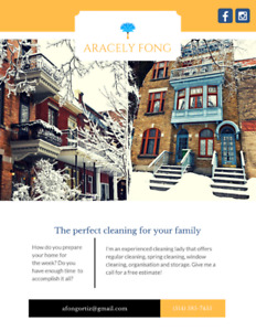 The perfect cleaning for your family! (514) 585-7455