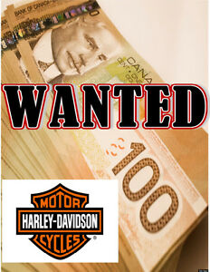 WANTED HARLEY 2012 or Newer CASH Buyer