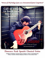 Live Spanish Latin Guitarist - Booking for Fiestas & Events!