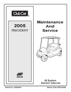 2004 to 2006 Clubcar Service Manuals (Gasoline & Electric)