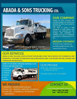 LOOKING FOR DUMP TRUCK SERVICES?