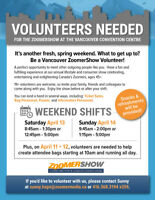 Volunteer at the ZoomerShow April 13 and 14th