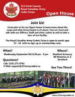 223 Royal Canadian Army Cadets Open House