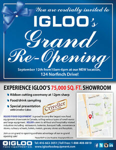 IGLOO- BAKERY, MEAT, PASTRY, FISH CASES-LARGEST SHOWROOM.