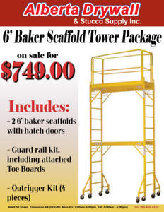 6′ Baker Scaffold Tower Package SALE for $749.00!