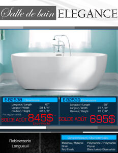 Liquidation! 13 bains autoportants à moins de 995$, Neuf