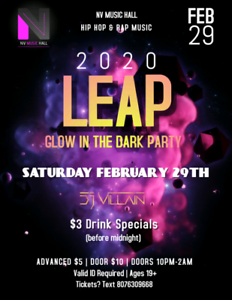 LEAP Glow in the Dark Party