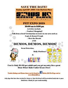 Sirius k9 Pet Expo