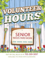 Senior needs yard work High school volunteer Midland