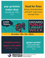 ONTARIO PUBLIC LIBRARY WEEK Celebrations