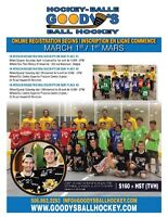 Ball Hockey Moncton: 12-20 sessions for $130-$160+tax!