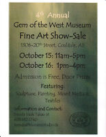 Last Day for Gem of the West  Fine Art Show and Sale