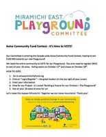 VOTE for the Miramichi East Playground