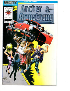 ARCHER & ARMSTRONG #1,2 (1992) NM UNITY VALIANT NEW MOVIE?