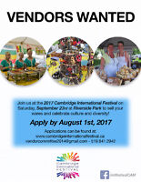 Vendors Wanted for Cambridge International Festival