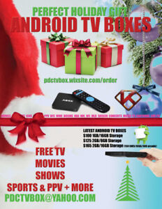 Android TV Boxes  -   Movies/Shows/Live TV/Sports - Great Gift!