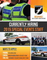 SPECIAL EVENT SECURITY GUARDS WANTED