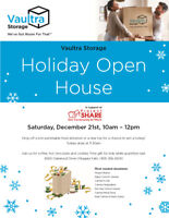 Vaultra Self Storage Holiday Open House