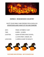 HALLOWEEN DANCE WITH ROSEWOOD COUNTRY IN LINDSAY