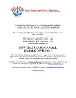 PGMHA Female Division - players wanted!