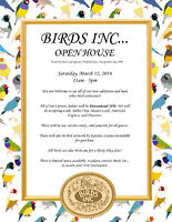 10% Discount on All Birds at BIRDS INC... OPEN HOUSE!