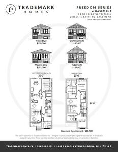 Brand new 2 bed bungalows with full basements, Land in Regina Regina Area image 1