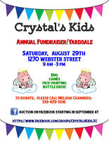 Crystal's Kids 2nd Annual Yard Sale/Auction