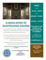 6 Week Scaffolding in Regina (Free)