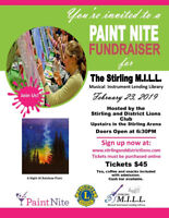 Paint Nite in Support of the Stirling M.I.L.L