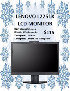 """WINTER MONITOR SALE - LENOVO 22"""" LCD Monitor Only $115! Kitchener / Waterloo Kitchener Area image 1"""