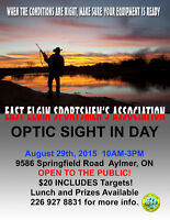 Optic Sight-In services (public welcome) - East Elgin SA