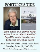Saint John Free Public Library welcomes Lyman Ward back to SJ!
