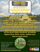 Open Barn & Country Market, with the alpacas