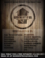 Let us finish your basement renovations ~ Call at (416-824-5911)