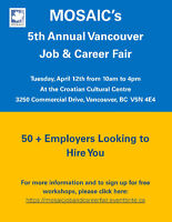 MOSAIC's 5th Annual Vancouver Job and Career Fair