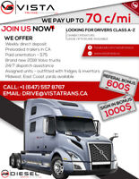 A-Z Truck drivers/Owner Operators for USA-CA