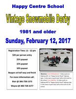 Happy Centre School - Vintage Snowmobile Derby